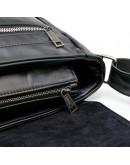 Фотография Черная удобная вместительная кожаная сумка на плечо Tarwa GA-7022-3md