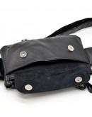 Фотография Кожаная черная сумка на пояс Tarwa GA-8136-4lx