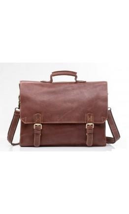Мужской кожаный портфель, коричневый цвет GA2095B