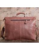 Фотография Мужской кожаный портфель, коричневый цвет GA2095B