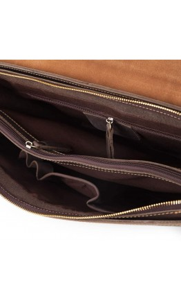 Портфель мужской коричневый из конской кожи GA2095R