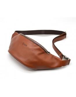 Коричневая сумка на пояс кожаная Tarwa GB-3036-4lx