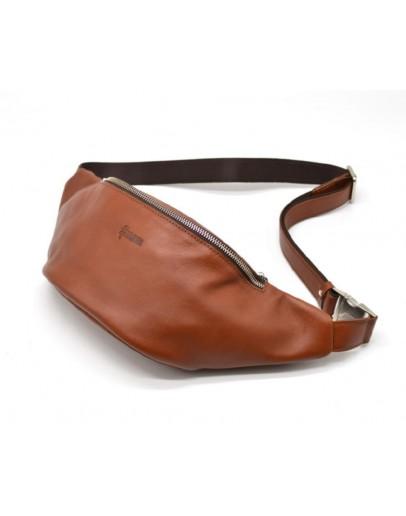 Фотография Коричневая сумка на пояс кожаная Tarwa GB-3036-4lx