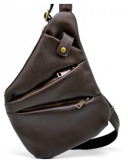 Коричневая сумка - слинг из мягкой телячьей кожи Tarwa GC-6402-3md