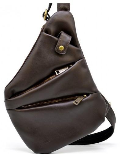 Фотография Коричневая сумка - слинг из мягкой телячьей кожи Tarwa GC-6402-3md