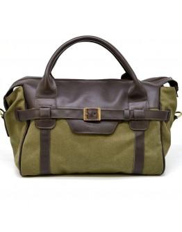 Мужская сумка для командировок из натуральной кожи и ткани Tarwa GH-7079-3md