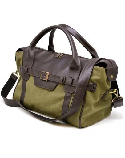 Фотография Мужская сумка для командировок из натуральной кожи и ткани Tarwa GH-7079-3md