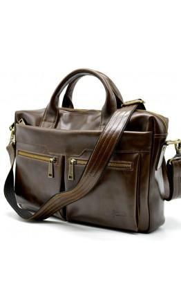 Кожаная деловая сумка коричневая для документов Tarwa GQ-7122-3md