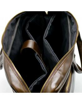 Кожаная деловая коричневая сумка-портфель Tarwa GQ-7334-3md