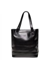 Черная кожаная женская сумка GR-0599A