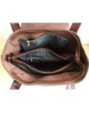 Фотография Коричневая кожаная женская сумка GR-0599B