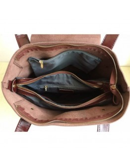 Светло - коричневая кожаная женская сумка GR-0599LB