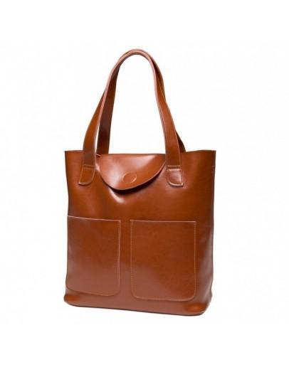 Фотография Светло - коричневая кожаная женская сумка GR-0599LB