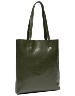 Женская зеленая кожаная сумка GR-2002GR