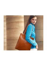 Женская вместительная кожаная сумка GR-2002LB