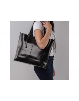 Женская черная кожаная сумка GR-2011A