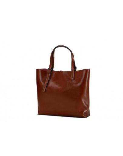 Фотография Кожаная коричневая женская сумка GR-2011LB