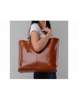 Кожаная коричневая женская сумка GR-2011LB