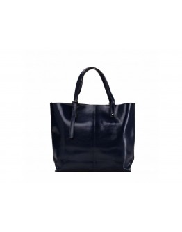 Кожаная женская синяя сумка GR-2011NV