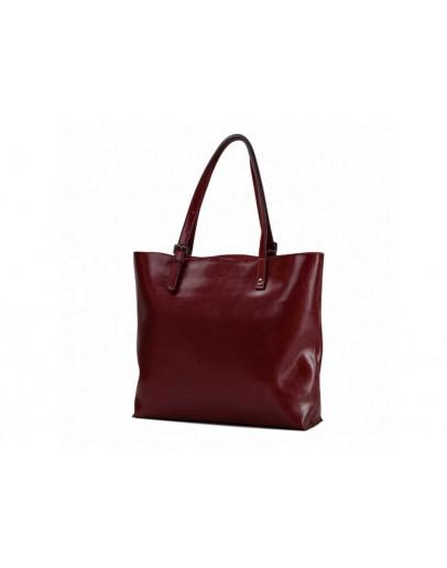 Фотография Кожаная женская красная сумка GR-2011R
