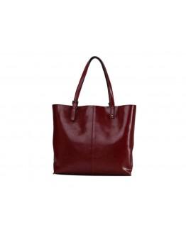 Кожаная женская красная сумка GR-2011R