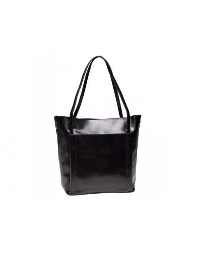 Фотография Черная женская кожаная сумка GR-2013A