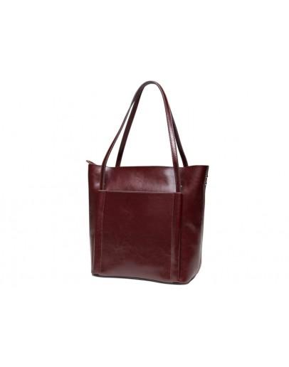 Фотография Женская сумка коричневая кожаная GR-2013B