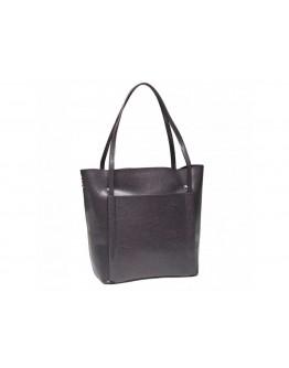 Кожаная женская серая сумка GR-2013G