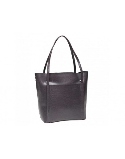 Фотография Кожаная женская серая сумка GR-2013G