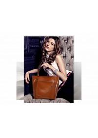 Светло-коричневая женская кожаная сумка GR-2013LB
