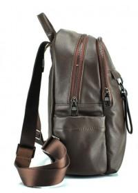 Коричневый женский кожаный рюкзак GR-7011B