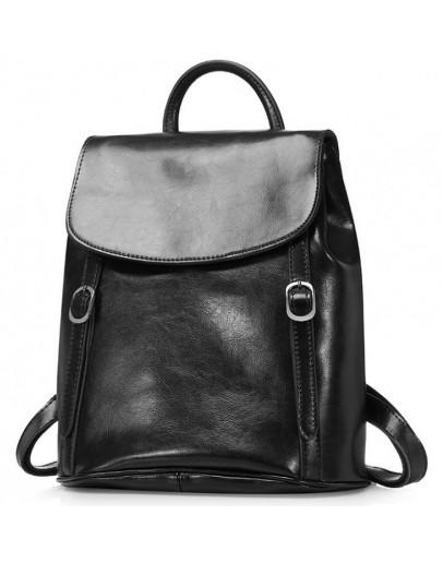 Фотография Черный женский кожаный рюкзак GR-8158A