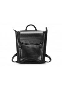 Черный женский кожаный рюкзак GR-8158A