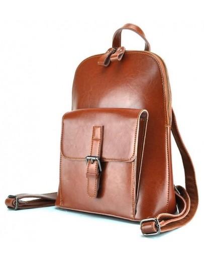 Фотография Светло-коричневый женский кожаный рюкзак GR-830LB-BP