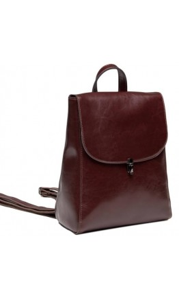 Бордовый женский рюкзак кожаный GR-8325B