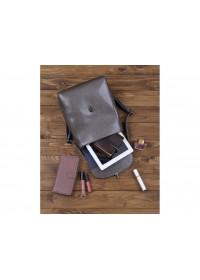 Женский серый кожаный рюкзак GR-8325G