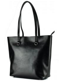 Черная женская кожаная деловая сумка GR-832A