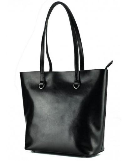 Фотография Черная женская кожаная деловая сумка GR-832A