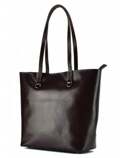 Фотография Женская коричневая сумка кожаная GR-832B