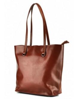Женская кожаная рыжая деловая сумка GR-832LB