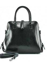Черная женская сумка кожаная GR-838A