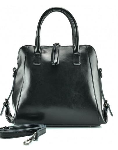 Фотография Черная женская сумка кожаная GR-838A