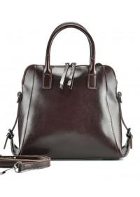 Женская коричневая кожаная сумка GR-838B