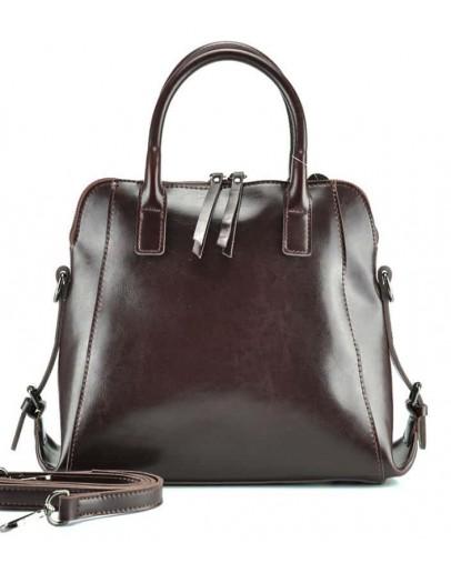 Фотография Женская коричневая кожаная сумка GR-838B