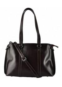 Кожаная коричневая женская сумка GR-839B