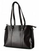 Фотография Кожаная коричневая женская сумка GR-839B