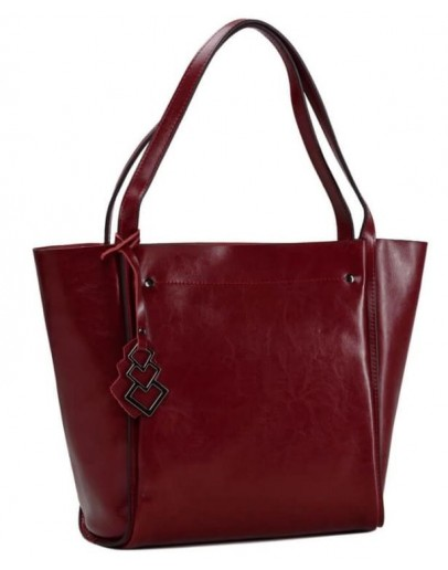 Фотография Кожаная красная женская сумка GR-8813R