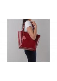 Кожаная красная женская сумка GR-8813R
