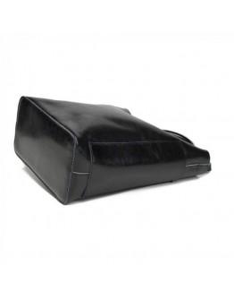 Черная женская кожаная сумка GR-8848A