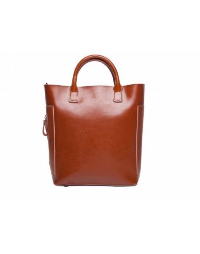 Фотография Коричневая сумка для женщин кожаная GR-8848LB
